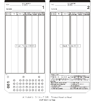 A11P300-549 B Time Cards - Blue