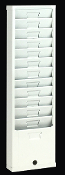 Time Card Rack 168H (12-Pocket, Steel)